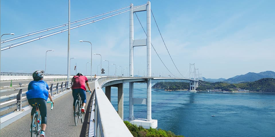 Biking Shimanami Kaido Cycling Road